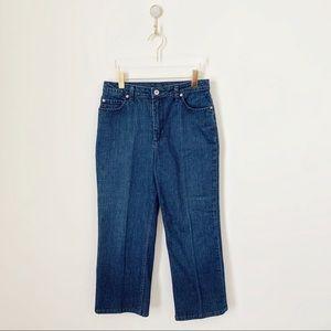 St. John Sport Wide/Straight Leg Crop Jeans
